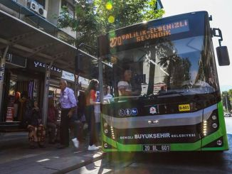 Denizli big buses are free for those who will enter ekpss