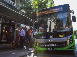 Denizli suured bussid on tasuta