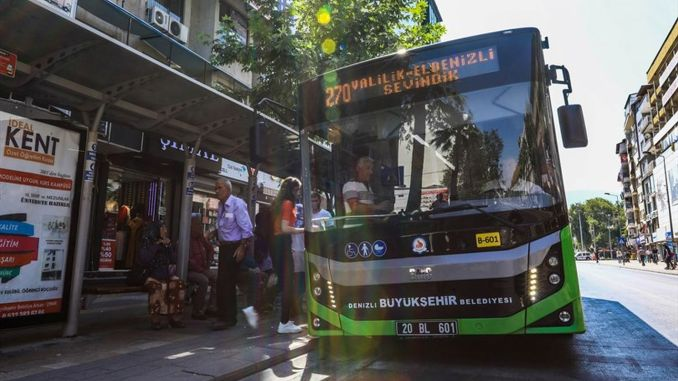 the big buses of denizli are free to those who will enter the kpss