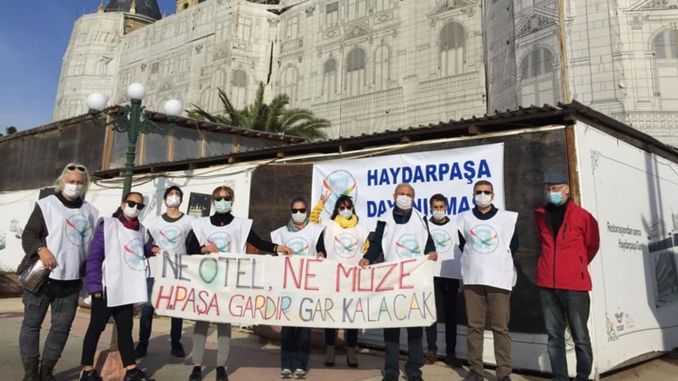 Haydarpasa solidarity when the gar will be opened