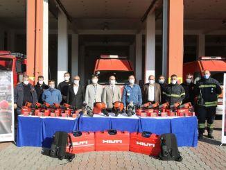 hyundai assan deu força ao corpo de bombeiros de Kocaeli