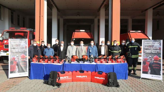 hyundai assan added strength to the fire department of Kocaeli