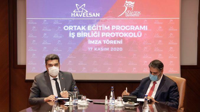 Protocolo de cooperación del programa de formación conjunto entre kbu y havelsan