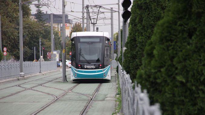 Kocaeli city hospital tram line construction begins