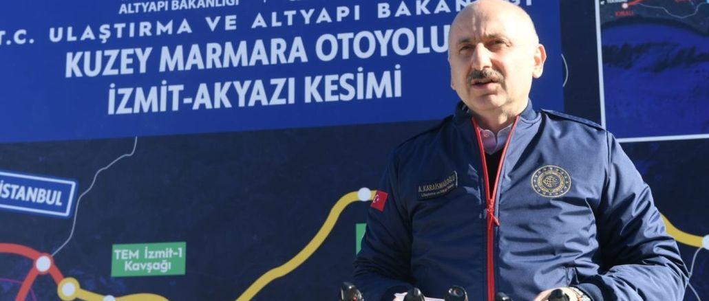 north marmara motorway project will ease the transportation of marmara region