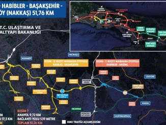 The end is approached in the hasdal basaksehir part of the northern marmara motorway