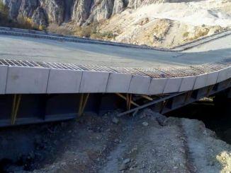 Kalkoy sild, mille maksumus oli miljon liiri, jäi hädaabita