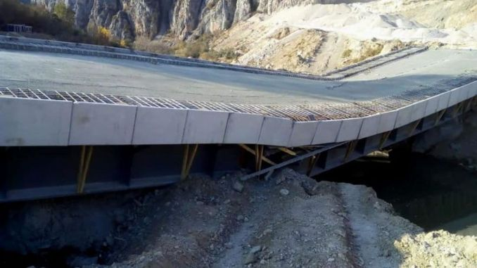 The calkoy bridge, whose cost was million lira, was destroyed without emergency