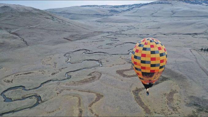 hooglanden van het leger ontmoetten ballontoerisme