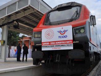 Samsun Sivas zal het spoorwegvervoer versnellen