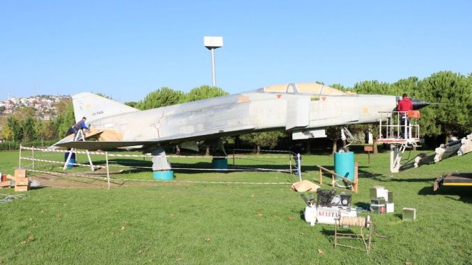 F4 Fighter Plane Placed in Seka Park Area is Renewed