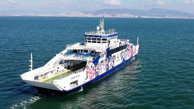 Uğur Mumcu Car Ferry Has Entered Izmir Bay