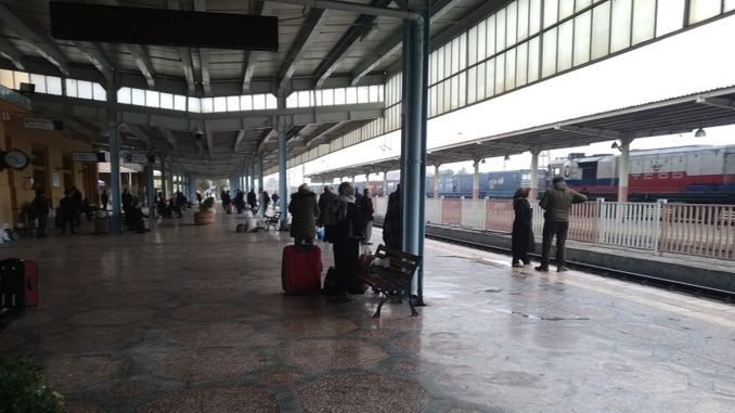 The railway that prevents the development of Yesiltepe is on the day