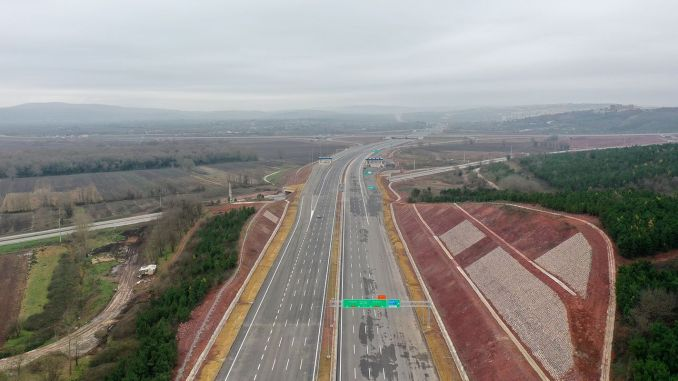 The entire km-long northern marmara highway has been opened