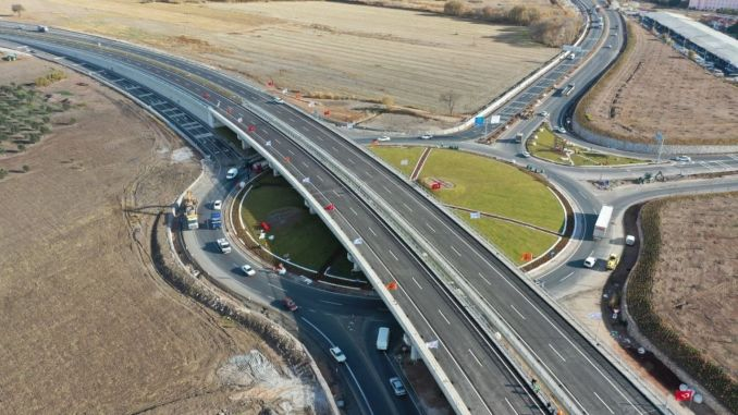 Akhisar periphery road was put into service with toren, the city crossing time has decreased