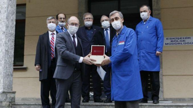 anatolian university rektoru erdal turasasi visited