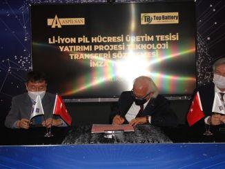 توقيع عقد نقل التكنولوجيا مع Aspilsan لمنشأة إنتاج خلايا بطارية أيون البطارية الأعلى