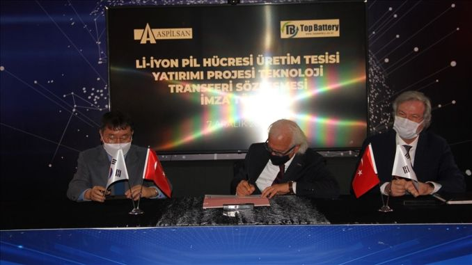 Signed a technology transfer contract with aspilsan for the top battery ion battery cell production facility.