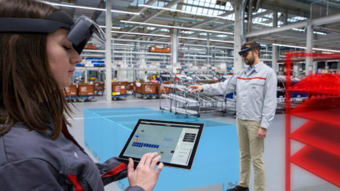 audi uses augmented reality in logistics planning