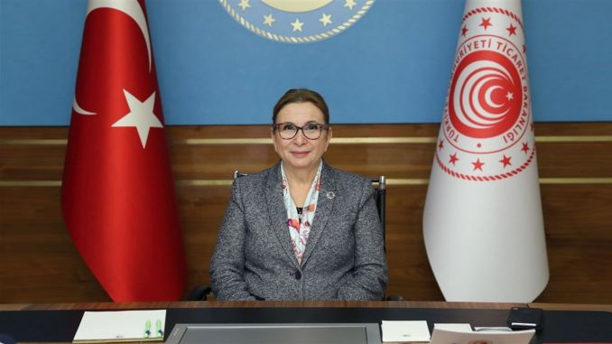 minister pekcan cinde joined the export train meeting with video conferencing method
