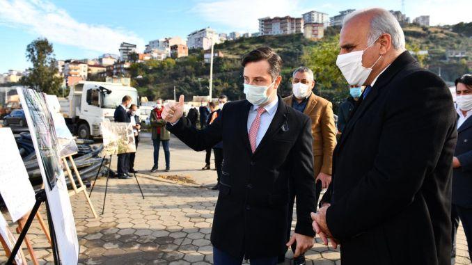 Başkan Zoroğlu made examinations in the new bus terminal area