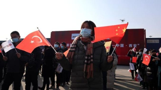 Welcoming Ceremony for the First Export Train Reaching Xi'an City of China