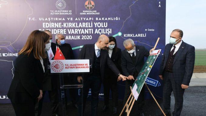 edirne kirklareli road sazlidere variant emergency took place