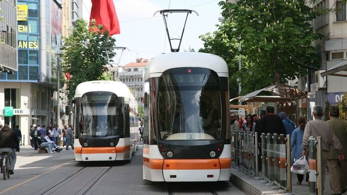 Restriction of bus and tram services in eskisehir