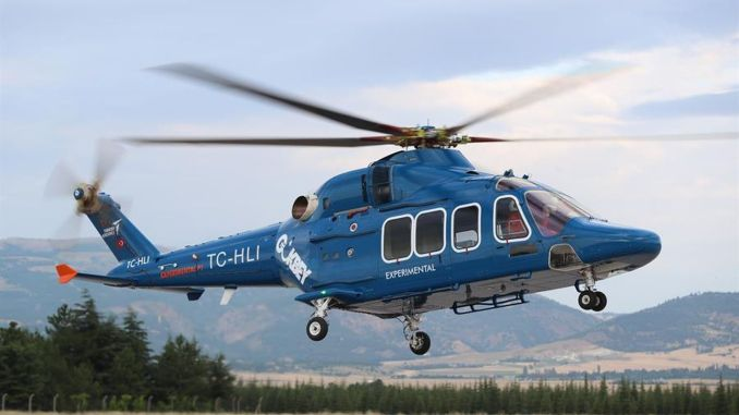 gokbey helicopter conducts certification flights