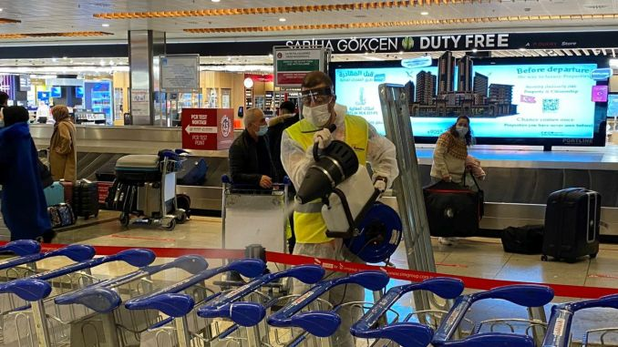 The point to pay attention to the virus in airports