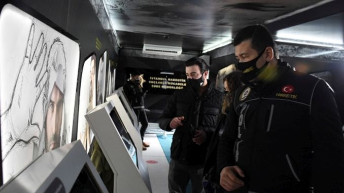 The harms of the drugs are explained in the narco truck established in Istanbul
