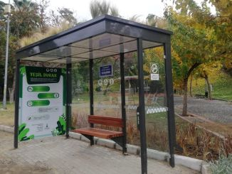 Izmir's first nature-friendly bus stop came to life