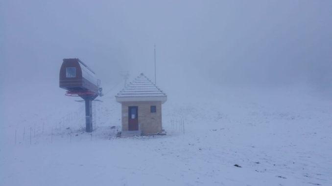 first snow of the season fell to murat mountain thermal ski resort