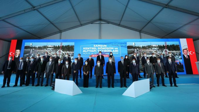 Samsun urban transformation and infrastructure investments, emergency and groundbreaking ceremony was made