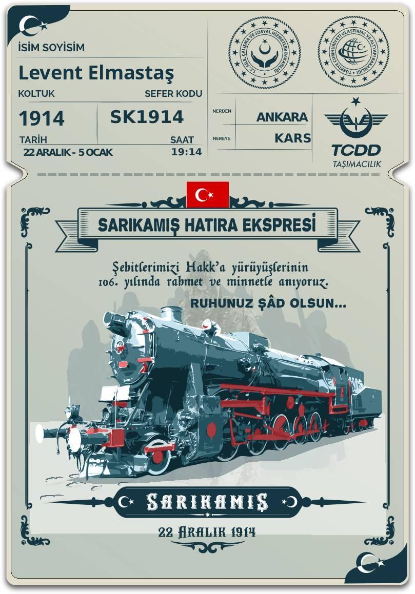 sarikamis hatira express ticket from tcdd