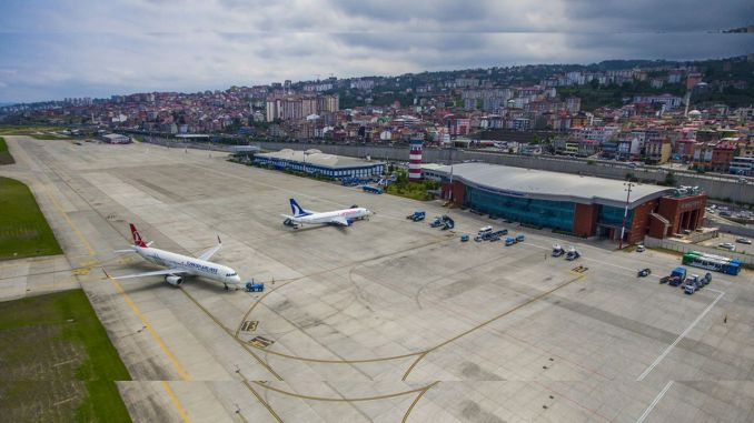 trabzon airport runway lighting works have been completed