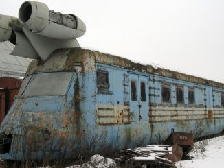 Turbojet train that can reach the km made by the Russians in the last years