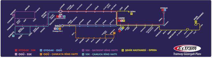Peta trem Eskisehir