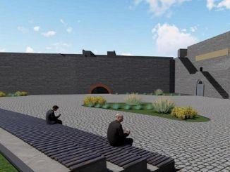 تم الانتهاء من مناقصة أعمال البناء في Keci Sign Entrance