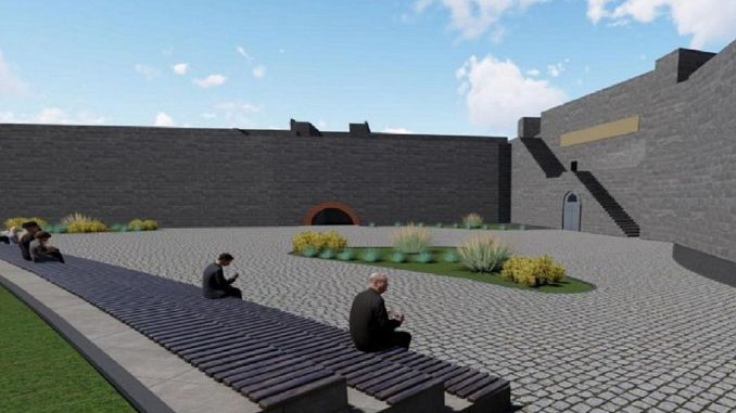 Keci Sign Entrance Landscape Arrangement Bauarbeiten Ausschreibung abgeschlossen