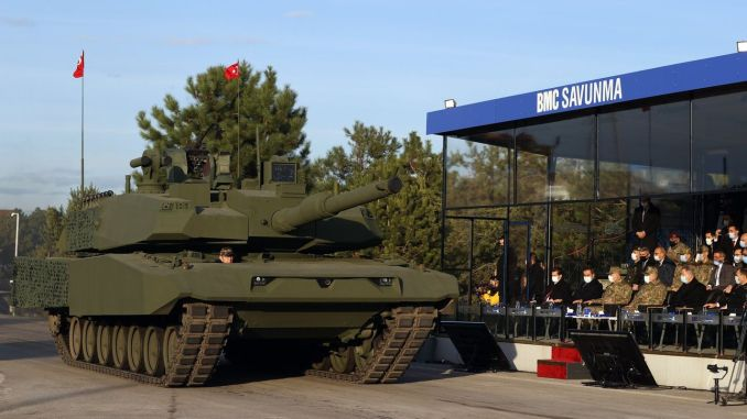 Main battle tanks appeared in front of the leopard with altai and altai towers