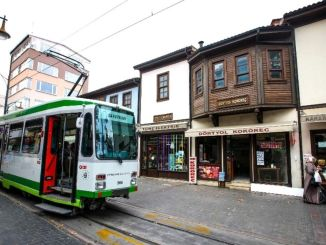 republic street nostalgic tram started to work in bursa
