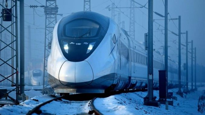 Started high-speed train services working at a degree