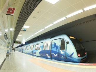 Verbot der Ausfahrt aus der U-Bahn-Fahrbahn Istanbul Januar Januar