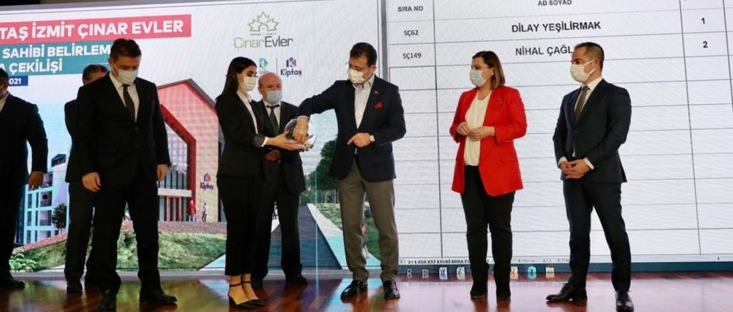 Lottery draw was held for kiptas izmit cinar houses residences