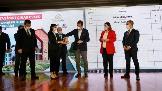 Lottery draw was held for kiptas izmit cinar houses residences
