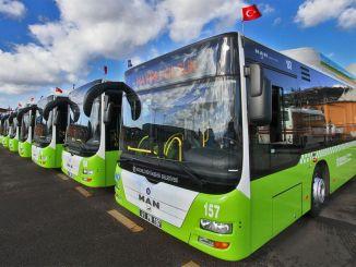 Liniile de autobuz care funcționează în Kocaeli cu o stânga
