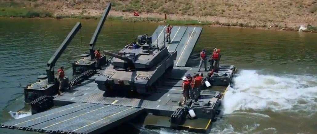 Sable mobilā peldētāja uzbrukuma tilts veiksmīgi nogādāja altay tanku