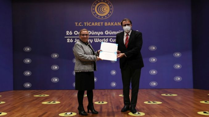 utikad member world gumruk organization received the certificate of merit