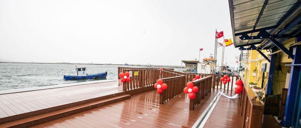the renewed passport pier was put into service